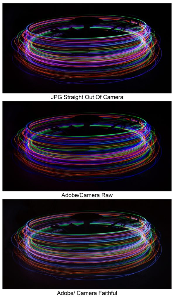 Adobe Lightroom Camera Calibration Comparison