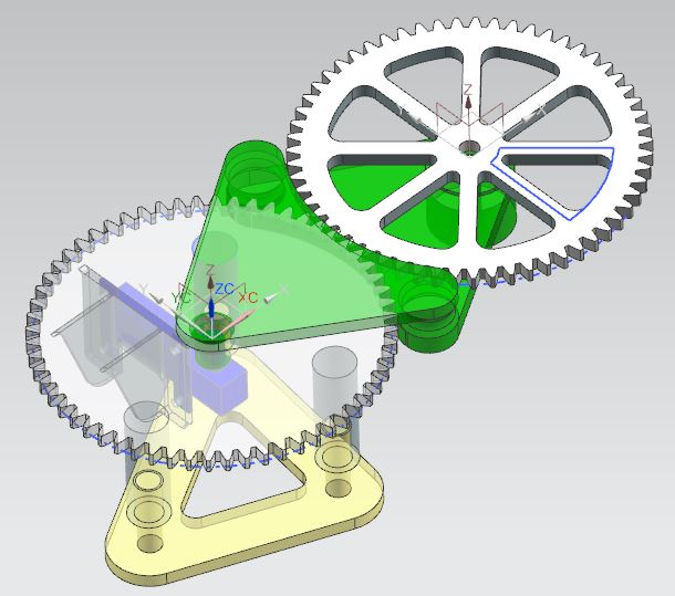 CAD design for my light painting spirograph