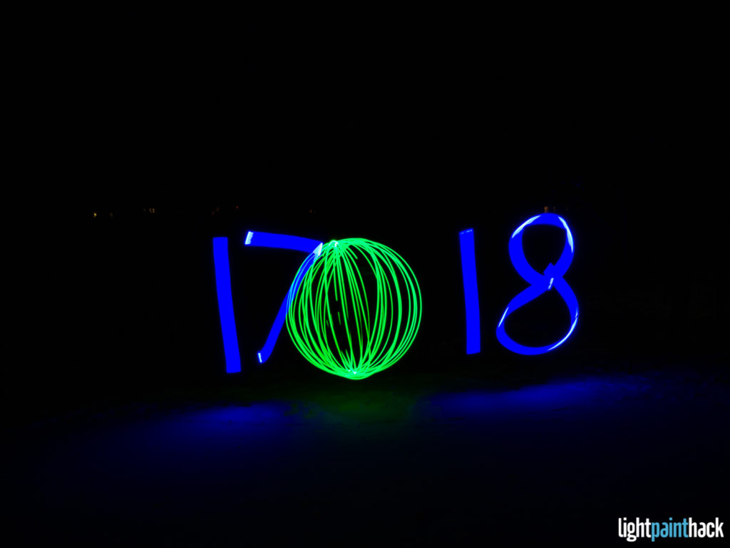 New Year Light Painting - Attempt 1