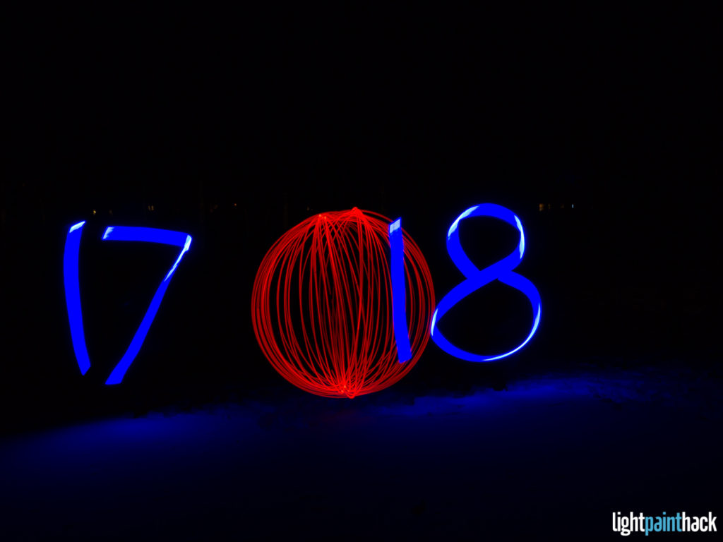 New Year Light Painting - Attempt 4