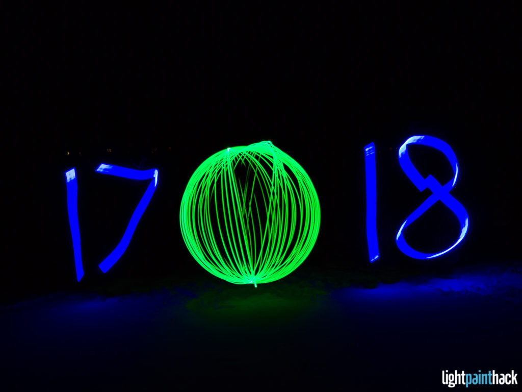 New Year Light Painting - Attempt 7