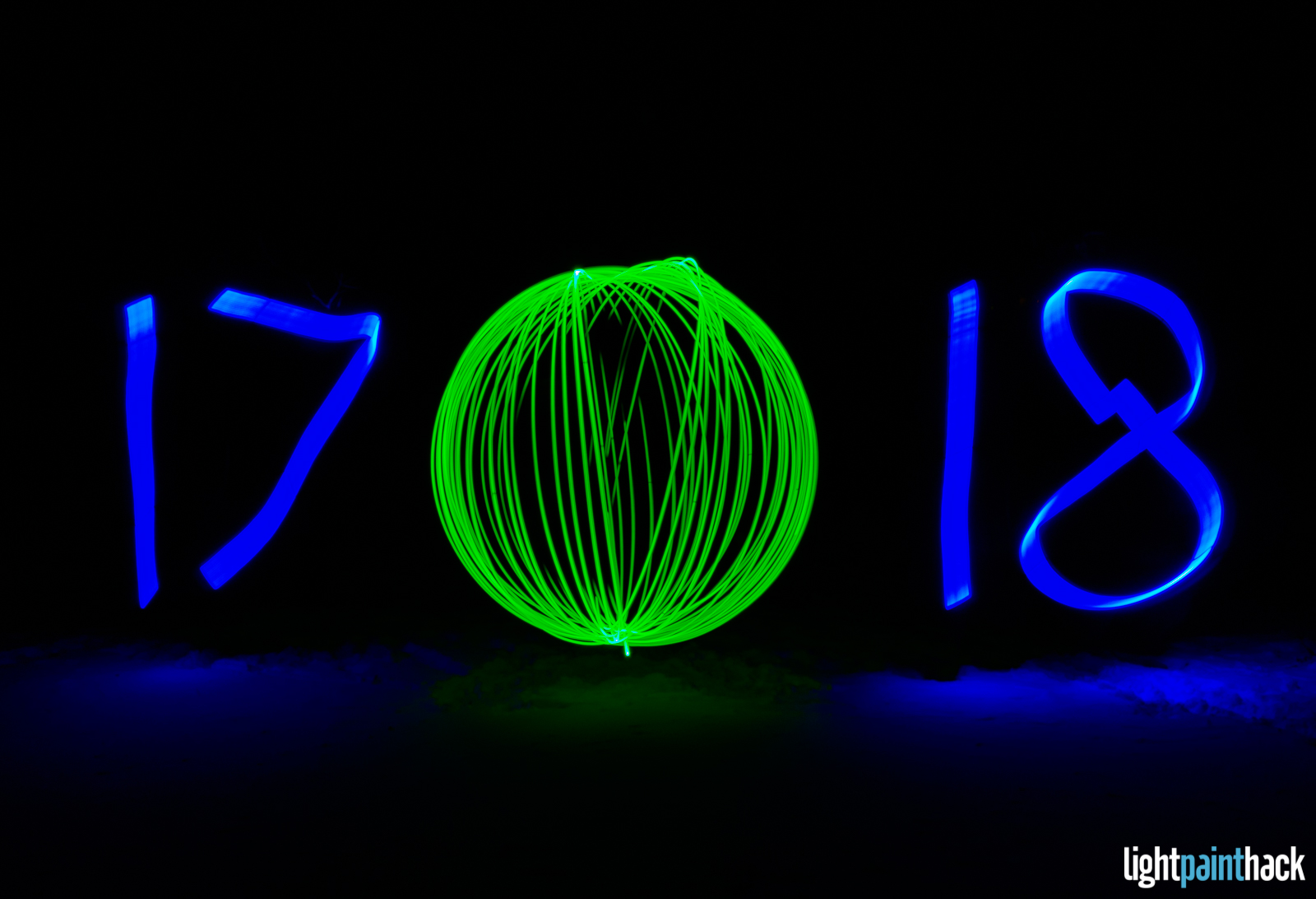 Happy New Year from Light Paint Hack